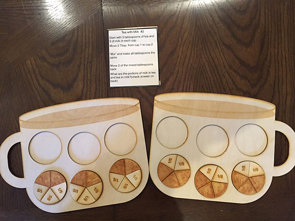 Teacup illustrates fractions
